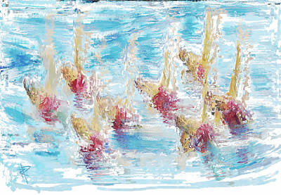 Mixed Media - Sync Or Swim by Russell Pierce