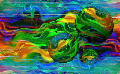 Motion Mixed Media - Synergy 3 by Angelina Vick