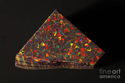 Photograph - Synthetic Opal by Ted Kinsman