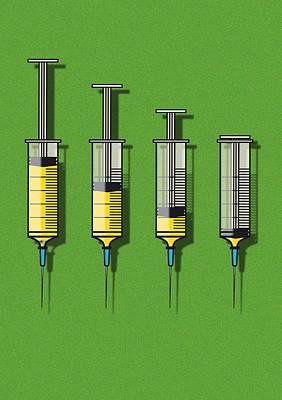 Plunger Photograph - Syringes by David Nicholls