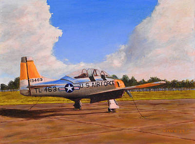Painting - T 28 At Spence Ab Georgia by William Frew
