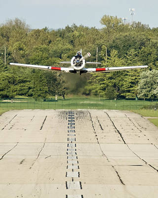 Photograph - T-6 Take Off  by Rick Hartigan