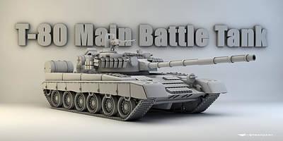 T-80 Main Battle Tank Art Print by Dale Jackson