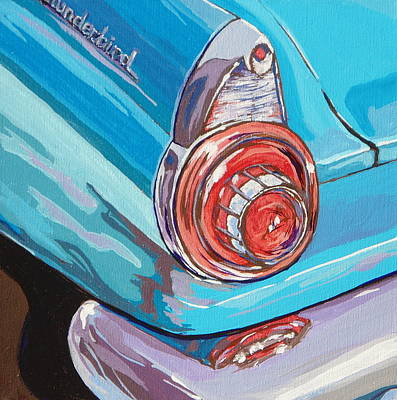 Painting - T-bird by Sandy Tracey