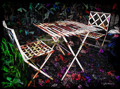 Photograph - Table And Chairs by Joan  Minchak