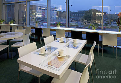 Upscale Photograph - Table At An Upscale Cafe With A View by Jaak Nilson