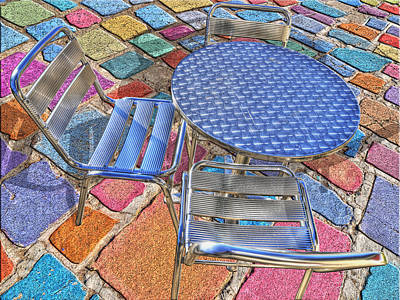 Photograph - Table For Three by Paul Wear
