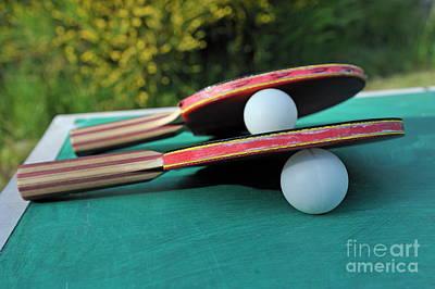 Table Tennis Rackets Art Print by Sami Sarkis