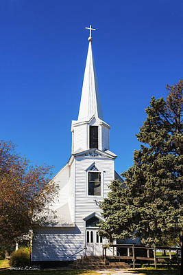 Photograph - Tabor Country Church by Edward Peterson