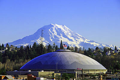 Photograph - Tacoma Dome N Mt Rainier by Jack Moskovita