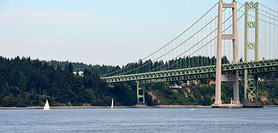 Photograph - Tacoma Narrows by Mark Bowmer