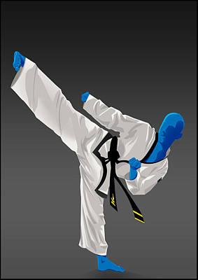 Taekwondo Art Print by Bjorn Sorensen