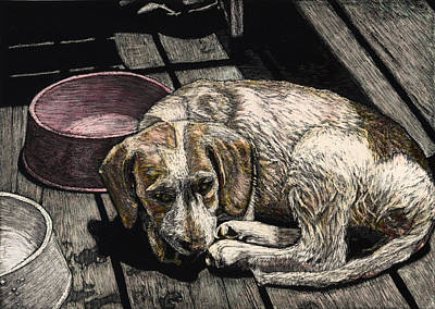 Taffy The Dog Art Print by Robert Goudreau