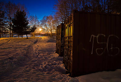 Print featuring the photograph Tagged Containers by Matti Ollikainen