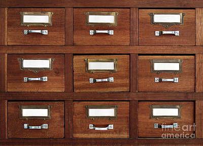 Tagged Drawers Art Print by Carlos Caetano