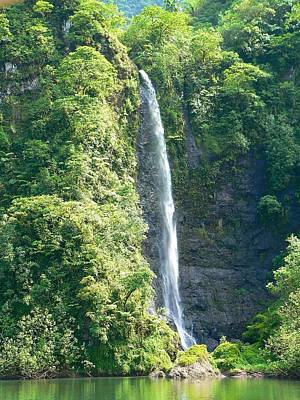 Photograph - Tahitian Waterfall by Eric Tressler