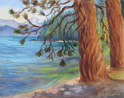 Tahoe Light Sugar Pine Point State Park Original by Karin  Leonard