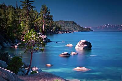 Tahoe On The Rocks Art Print by Donni Mac