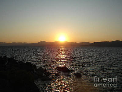 Tahoe Sunset Art Print by Silvie Kendall