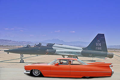 Photograph - Tailfin Contest by Bill Dutting