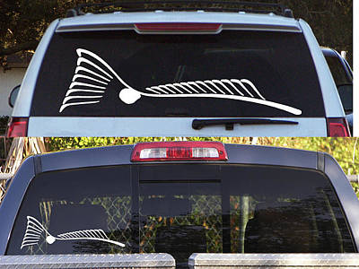 Tapestry - Textile - Tailing Redfish Window Decal  To Order Please Go To Www.kevinbrant.com by Kevin Brant