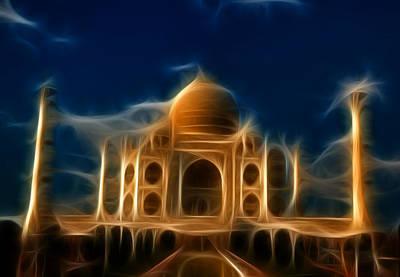 Mausoleum Digital Art - Taj Mahal  by Abhishek Singh