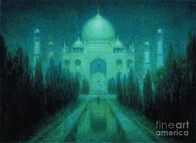 Taj Mahal Painting - Taj Mahal By Moonlight by Pg Reproductions