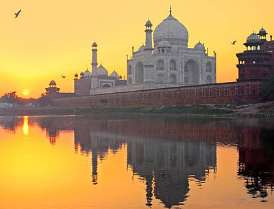 Taj Mahal From Other Side Print by Sami's Photography