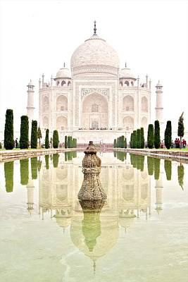 Photograph - Taj Mahal On The Vertical by Valerie Rosen