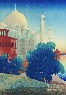 Taj Mahal Painting - Taj Mahal Sunset by Pg Reproductions