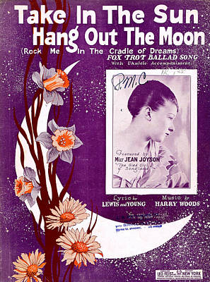 Old Sheet Music Photograph - Take In The Sun Hang Out The Moon by Mel Thompson