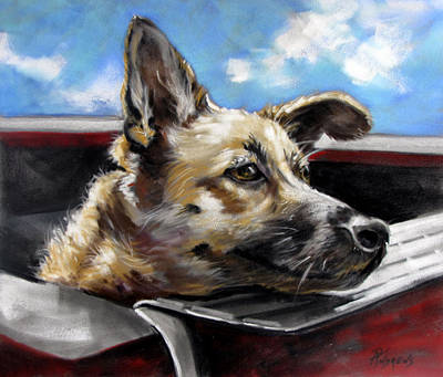 Art Print featuring the painting Take Me Too Please by Rae Andrews
