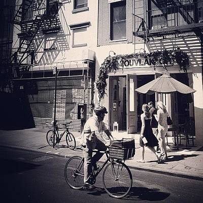 Cycling Wall Art - Photograph - Taking In The View - New York City by Vivienne Gucwa
