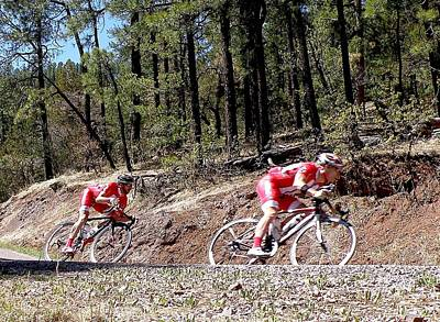 Tour Of The Gila Photograph - Taking The Curve by Feva  Fotos