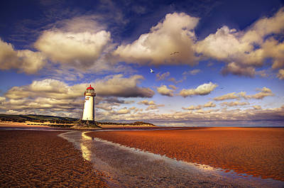 Lighthouses Photograph - Talacre Lighthouse by Mal Bray