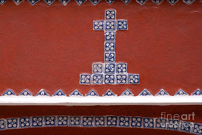 Photograph - Talavera Cross Puebla Mexico by John  Mitchell
