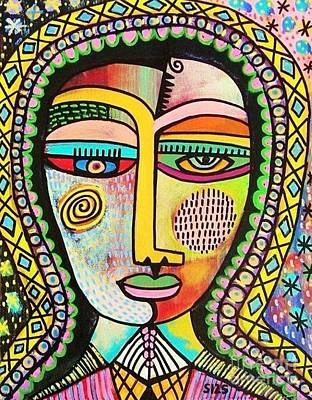 -talavera Virgin Of Guadalupe Miracles Art Print by Sandra Silberzweig