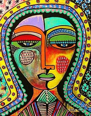 -talavera Virgin Of Guadalupe Blessings Art Print by Sandra Silberzweig