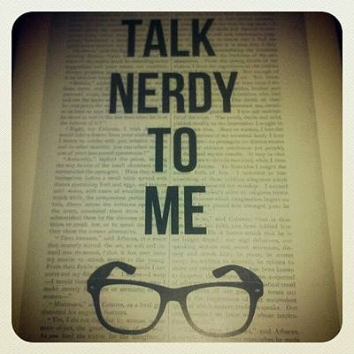 Wallpaper Photograph - Talk Nerdy To Me ;) by Robyn Addinall