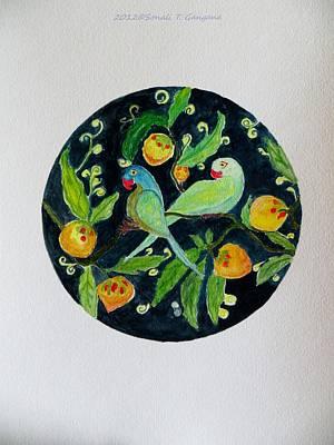Talkative Parakeets Art Print by Sonali Gangane