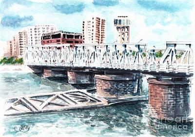 Talkha Bridge Art Print by Muna Abdurrahman
