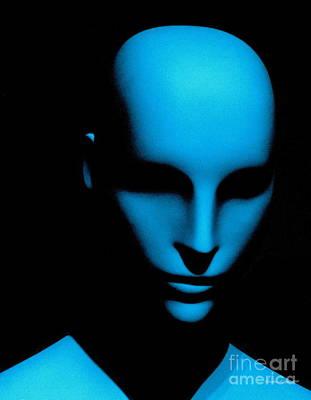 Photograph - Talking Head Blue by Christine S Zipps