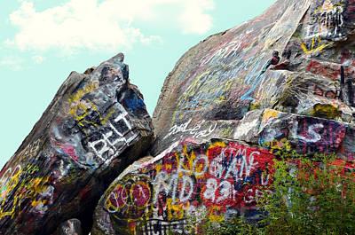 Talking Rocks And Sky Art Print by Susan Leggett
