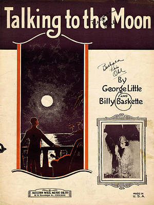 Old Sheet Music Photograph - Talking To The Moon by Mel Thompson