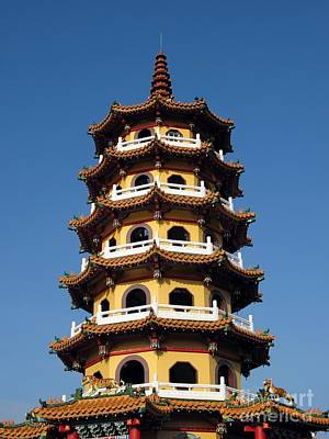 Glazed Pottery Photograph - Tall Pagoda by Yali Shi