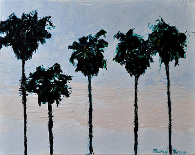 Painting - Tall Palms by Mickey Krause