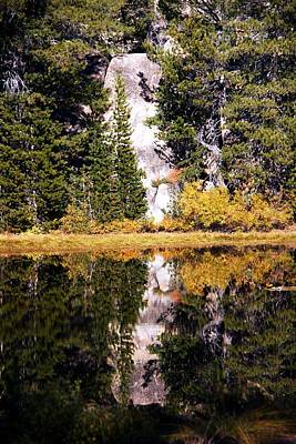 Photograph - Tall Rock Reflection by Michael Courtney