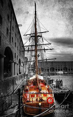 Photograph - Tall Ship At Liverpool by Yhun Suarez