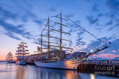 Photograph - Tall Ship Dawn by Susan Cole Kelly