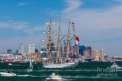 Photograph - Tall Ship Dewaruci Enters Boston by Susan Cole Kelly